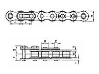 Roller Chain - Dimensions
